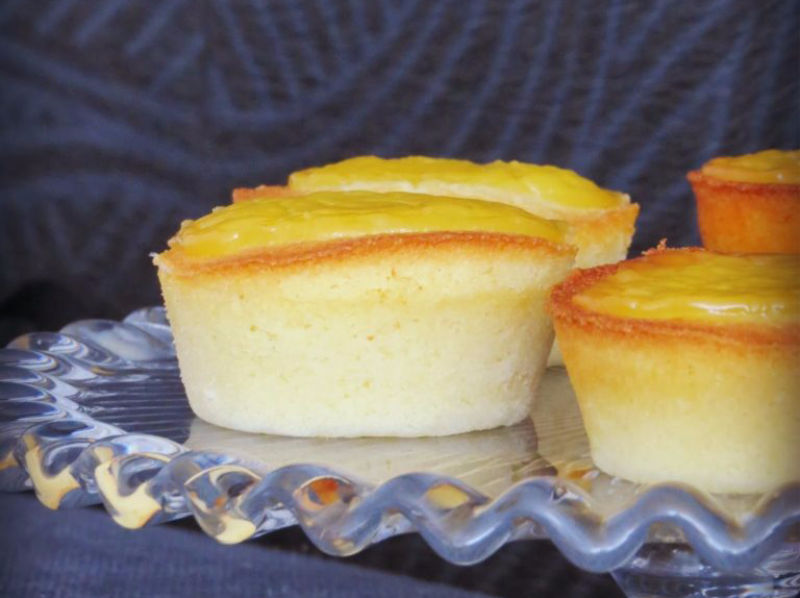 financiers de Lemond curd sin gluten
