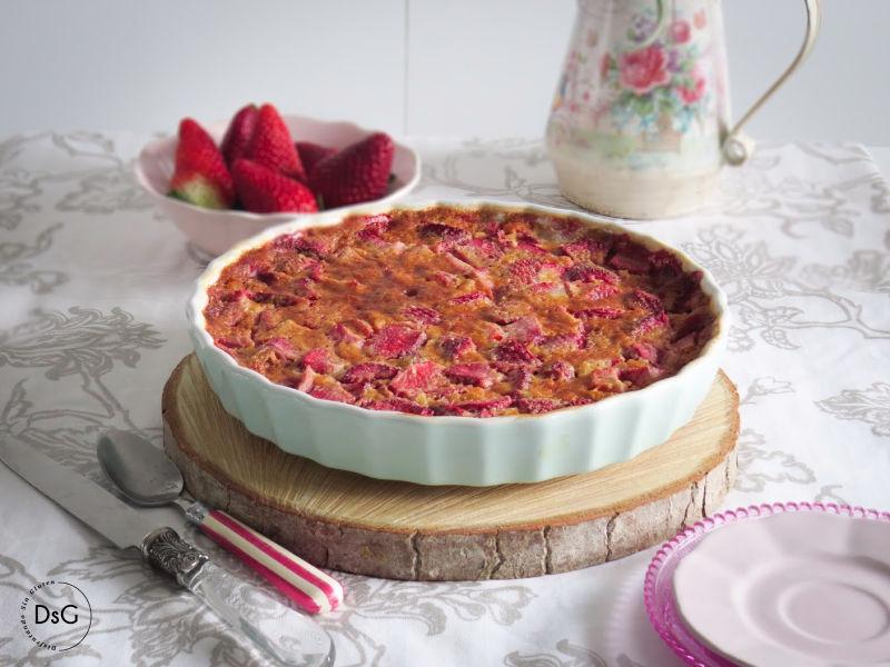 clafoutis de fresas sin gluten