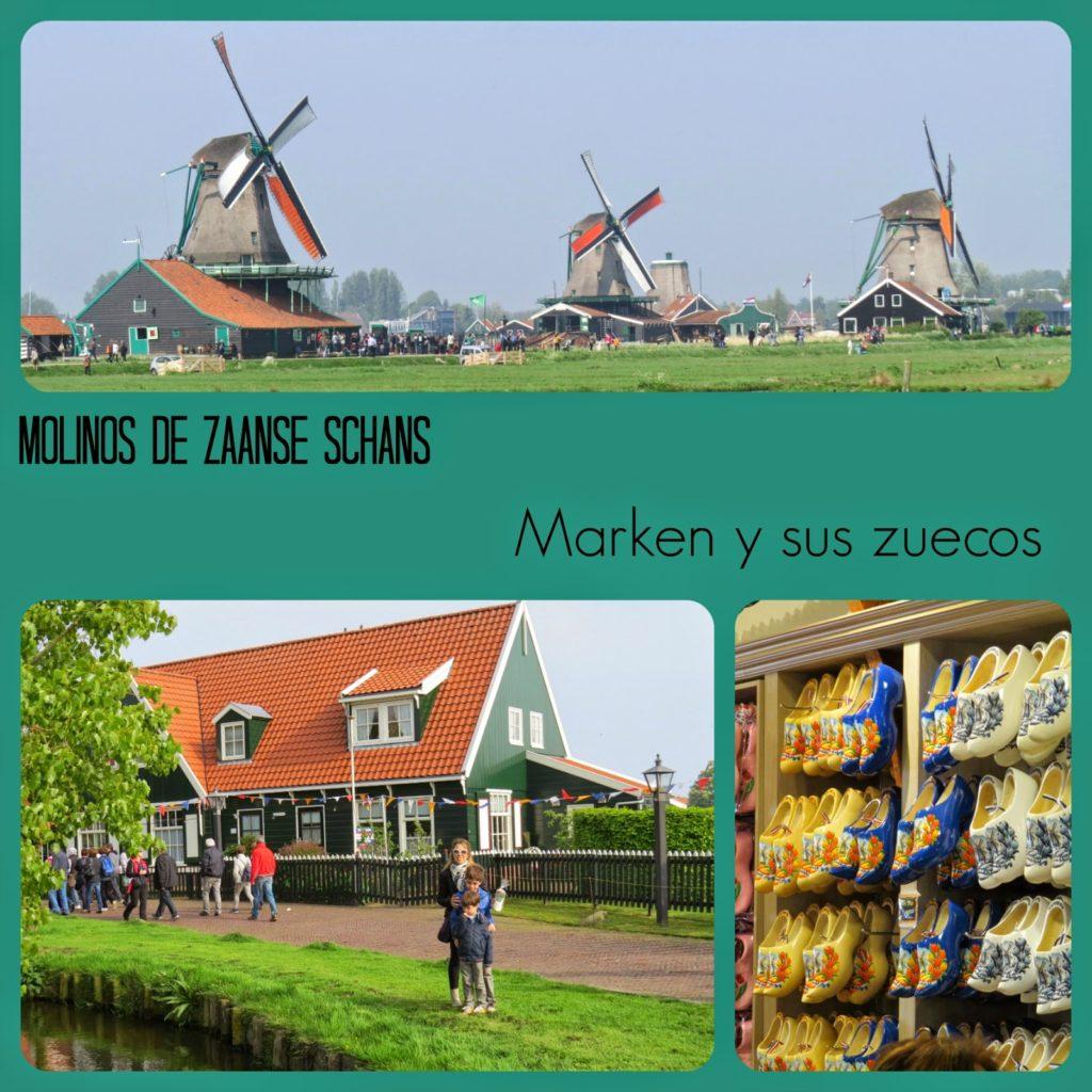 Molinos de Zaanse Schans en Holanda