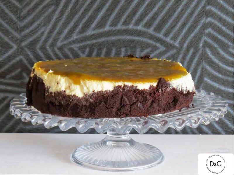 tarta de queso con galletas tipo oreo sin gluten