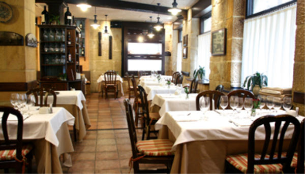comedor restaurante gandarias san Sebastian