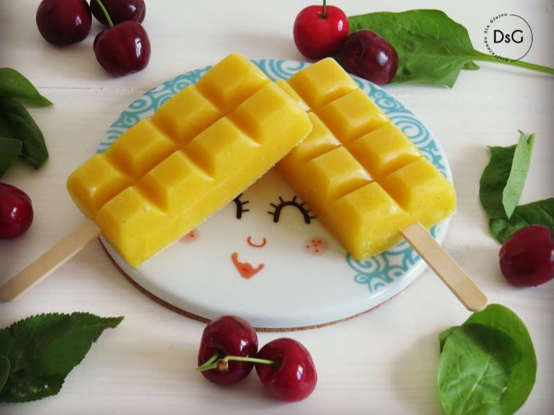 deliciosos polos casero de mango sin gluten
