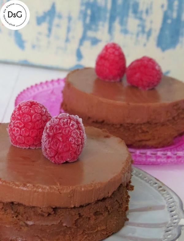 tarta de queso y chocolate sin gluten
