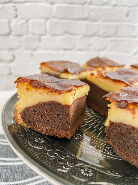 brownie cheesecake de mascarpone sin gluten