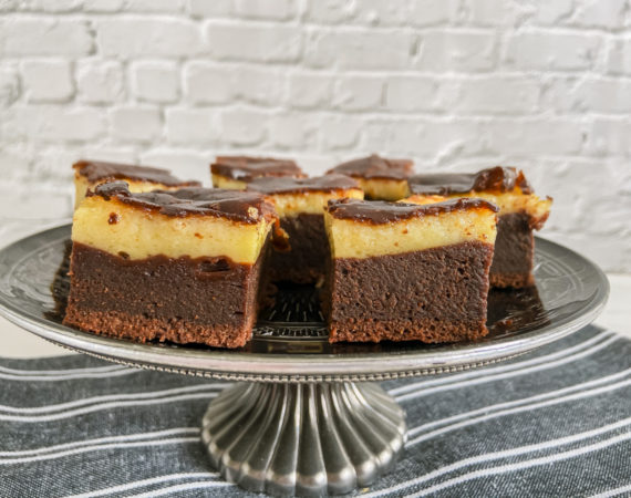 Brownie de queso mascarpone