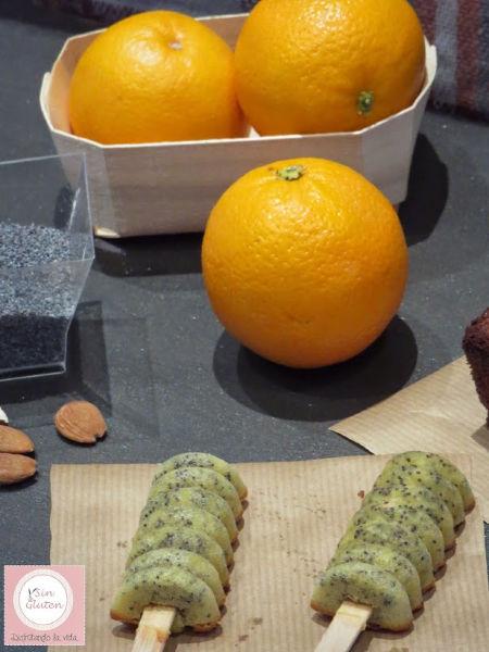 pila cake de naranja y semillas de amapola sin gluten