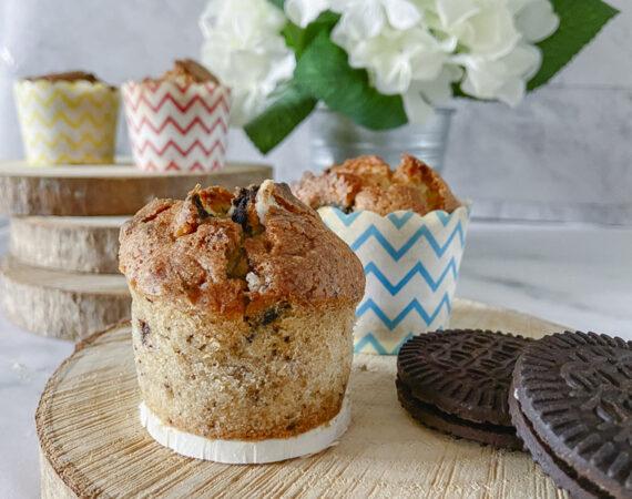 Muffins de oreo sin gluten