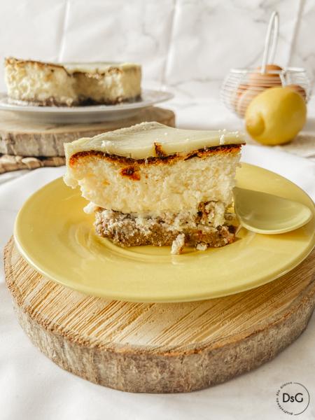 Receta de tarta de queso de crema de limon