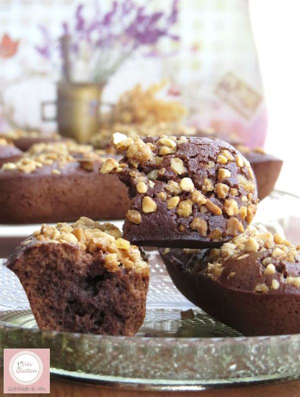 financiers de chocolate sin gluten