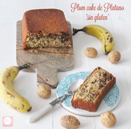 plum cake de plátano sin gluten