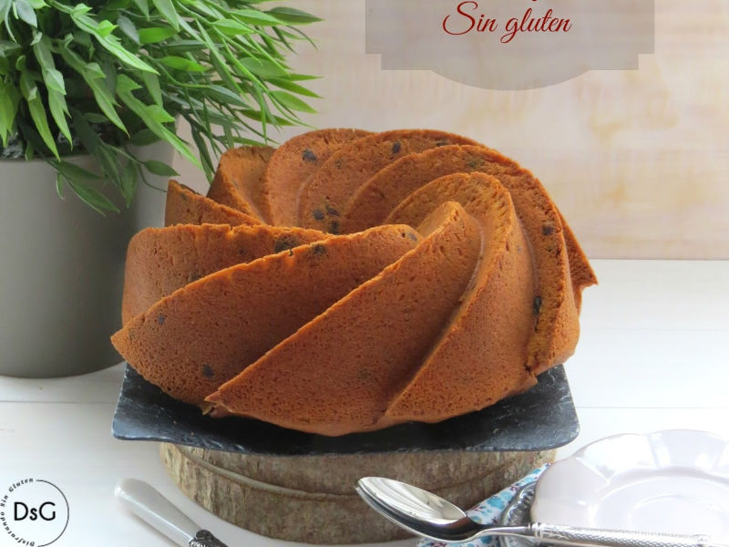 bundt cake de queso mascarpone sin gluten
