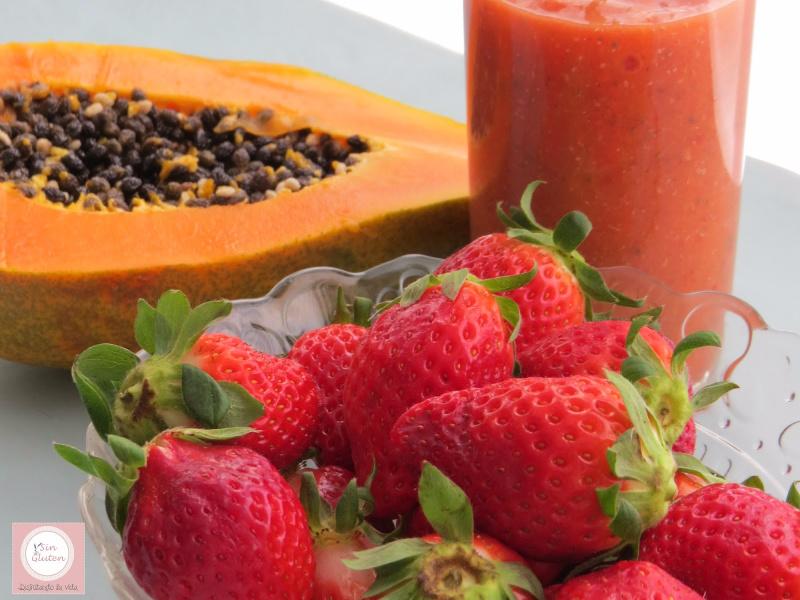 batido saludable de papaya y chia