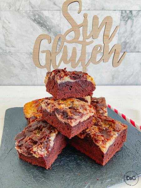 Brownie sin gluten red velvet