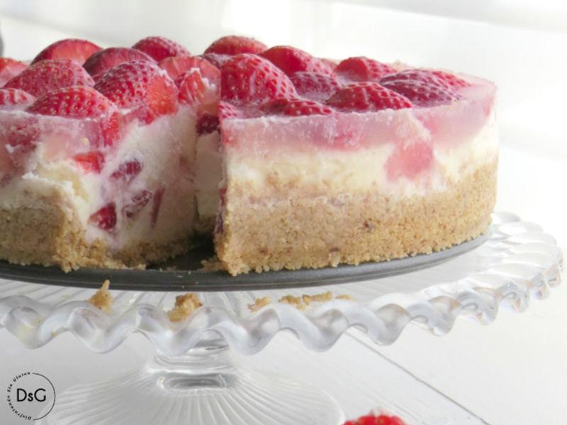 tarta de queso mascarpone y fresas sin gluten