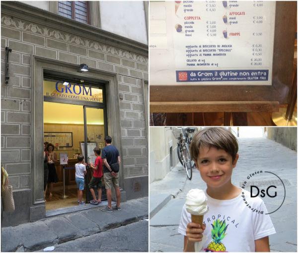 heladerías Grom sin gluten en Italia