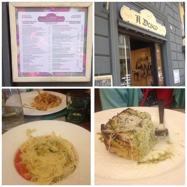restaurante il desco bistrot sin gluten en Florencia