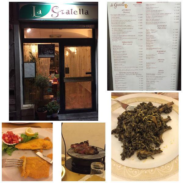 restaurante sin gluten La Gratella en Florencia
