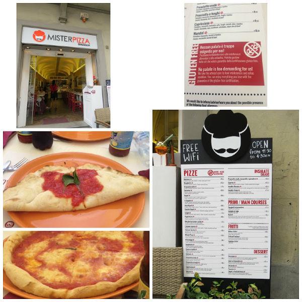 Restaurante sin gluten Mr Pizza en Florencia