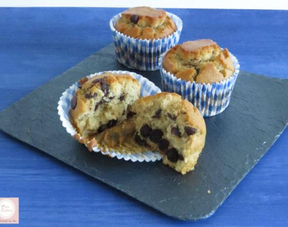 Muffins de quinoa y pepitas chocolate