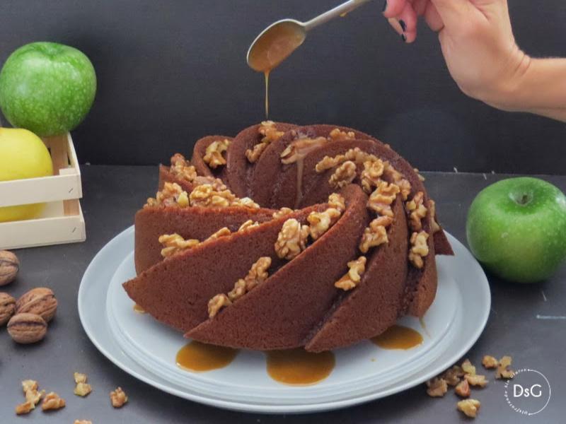 receta de bundt cake de manzana y toffe sin gluten