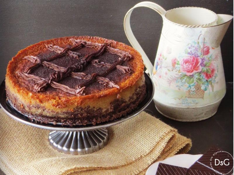tarta de queso sin gluten de zanahoria y chocolate