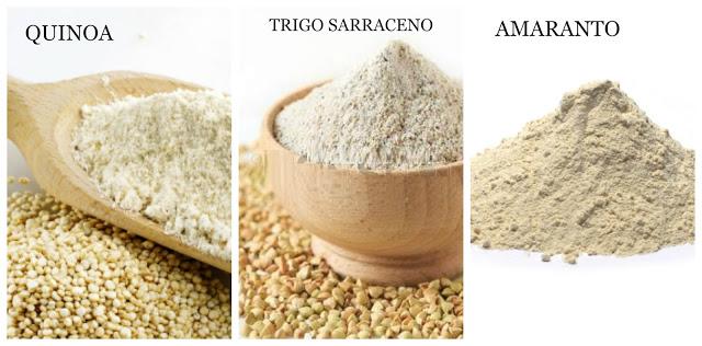 harinas sin gluten provenientes de pseudo cereales