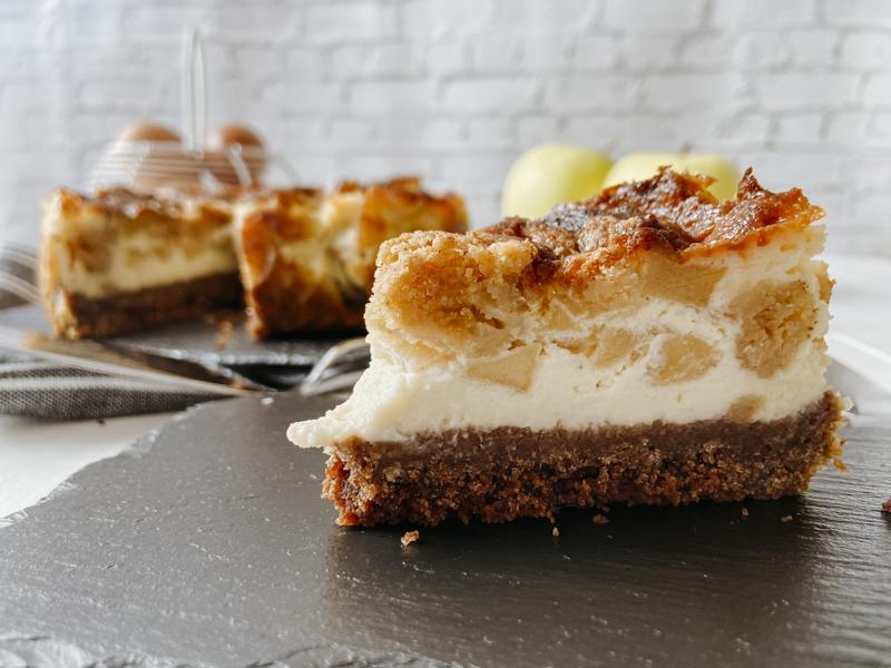 tarta de queso mascarpone y manzanas