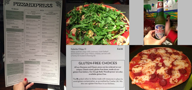 pizza express sin gluten Londres