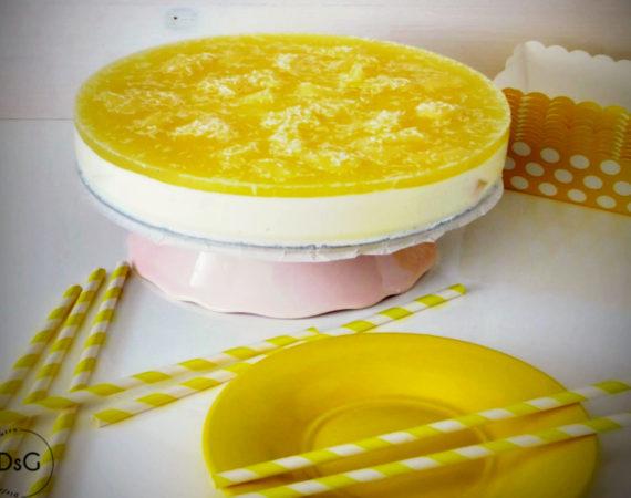 receta de tarta de queso y piña colada