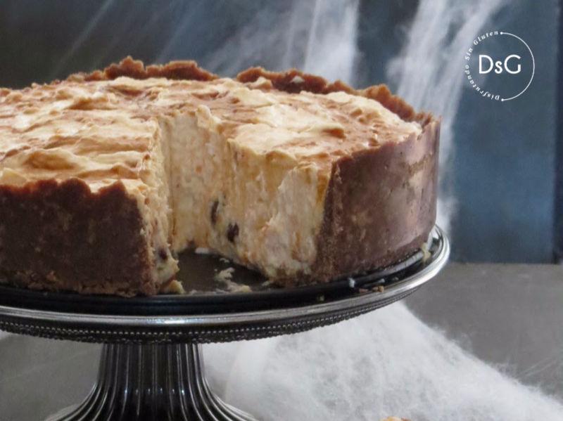 tarta de queso de boniato sin gluten