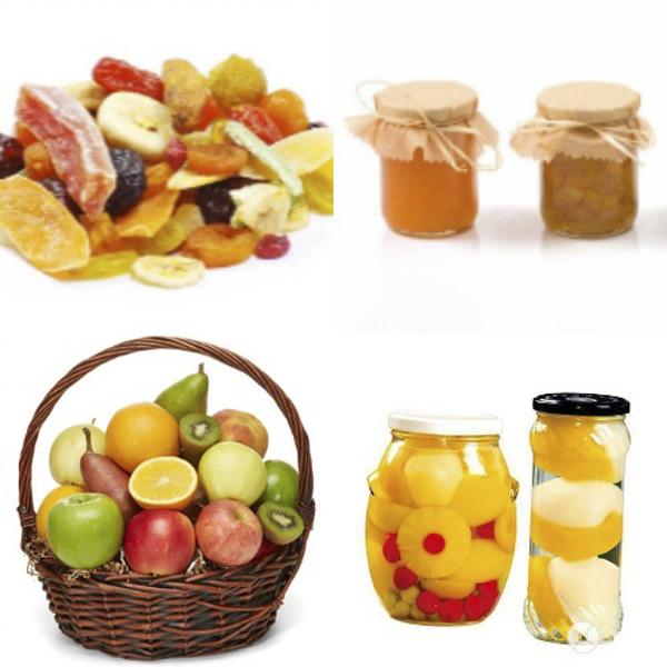 frutas y derivados sin gluten