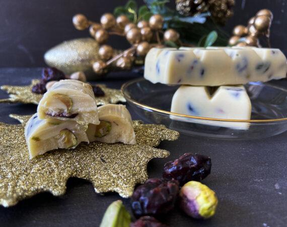 Turrón de pistachos sin gluten