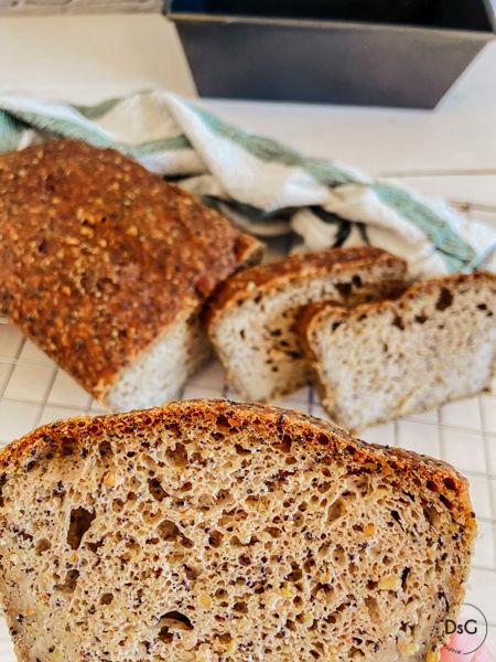 pan de trigo sarraceno y semillas sin gluten