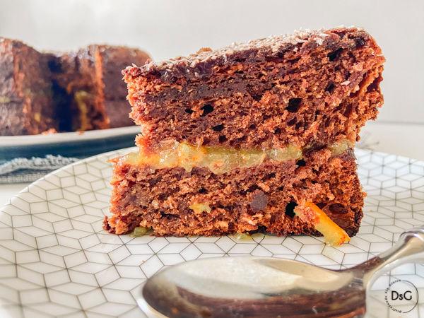 tarta de choco y coco sin gluten