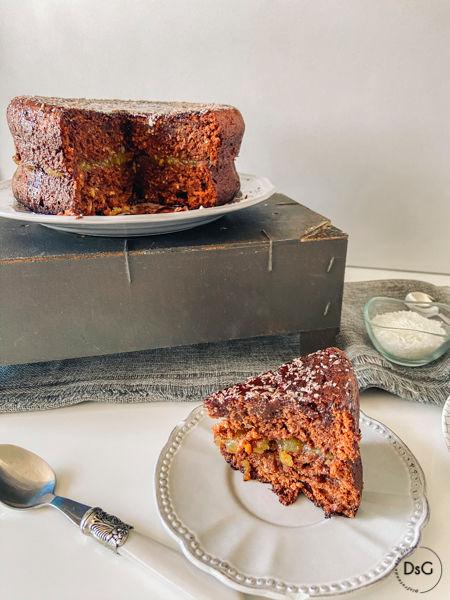 receta de tarta de coco y chocolate sin gluten