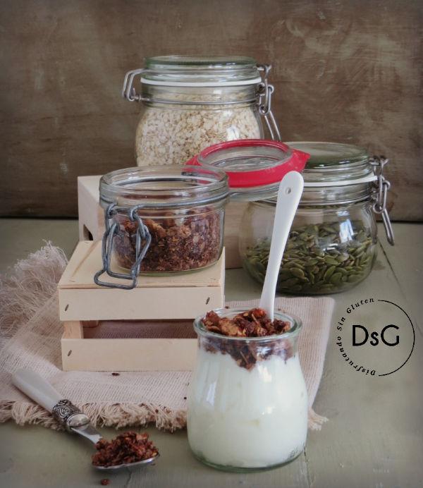 receta de granola casera sin gluten