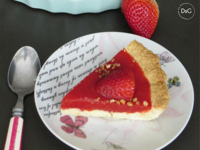 receta de tarta de fresas sin gluten