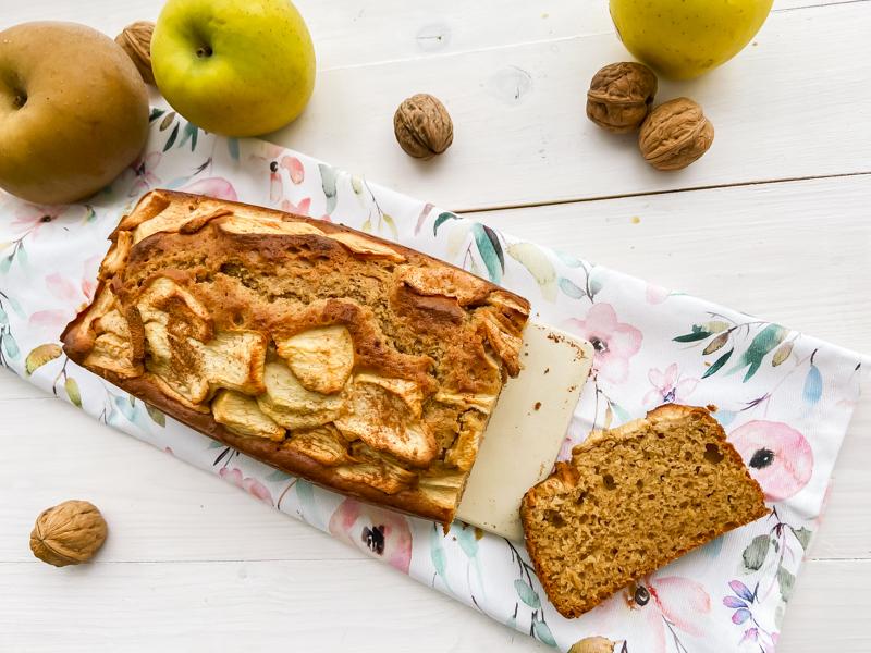 bizcocho de manzana y canela sin gluten