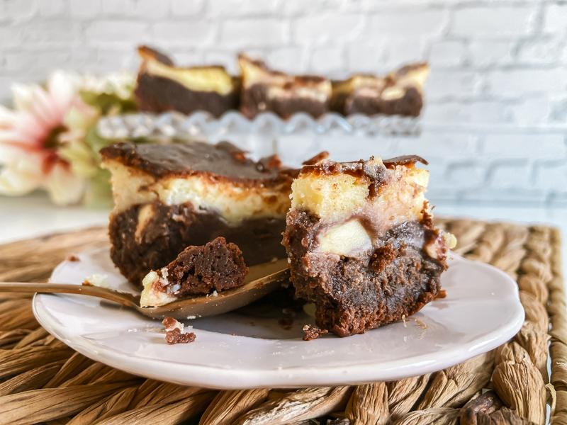 brownie cheesecake sin gluten