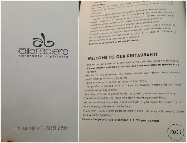 al braciere, restaurante sin gluten en sirmione, italia
