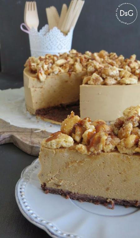 tarta sin gluten de dulce de leche y platano