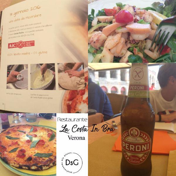 restaurante con carta sin gluten en Verona, Italia