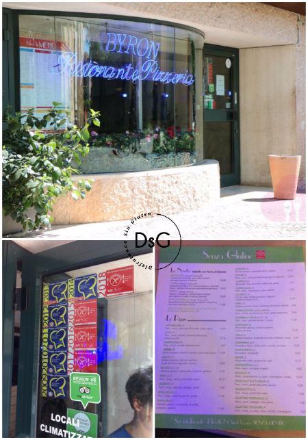 restaurante Byron sin gluten en Bergamo, Italia