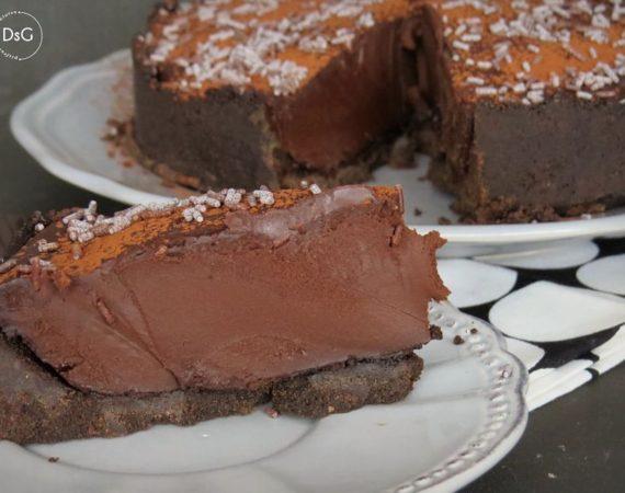 Tarta de chocolate salado