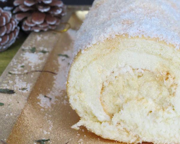 bizcocho sin gluten de coco para Navidad