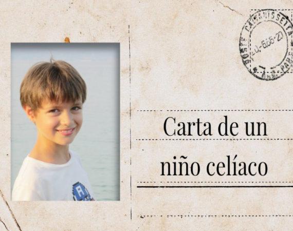 carta de un niño celiaco