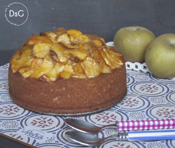 receta de bizcocho de manzana sin gluten
