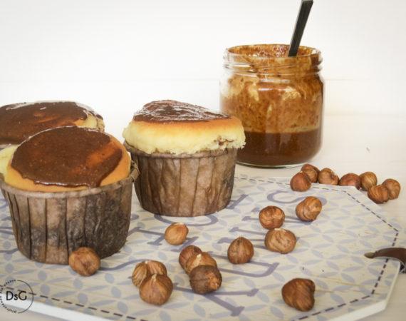 Muffins de queso mascarpone y avellanas sin gluten