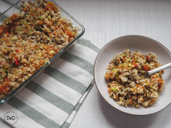 ensalada de lentejas y arroz integral sin gluten