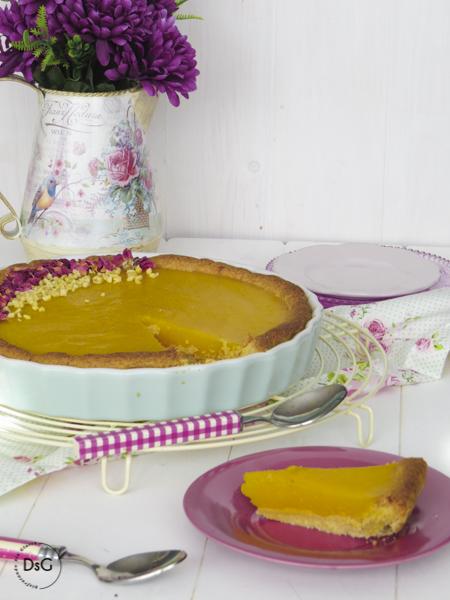 tarta de almendras y mango sin gluten
